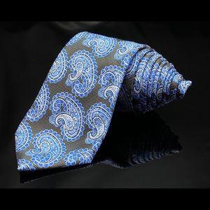Alexander Julian Colours Tie Blue Paisley